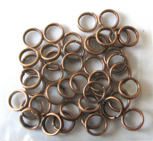Sprengringe/Spiralösen 6x0,7mm - 5 Gramm ca. 40-50 Stück Farbe: kupfer