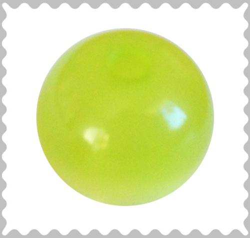 Polarisperle apfelgrün glänzend 16 mm - Großloch
