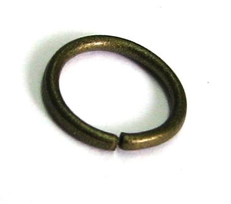 Binderinge/Ösen 8x0,9mm - 5 gramm - ca.44 Stück bronze farbig
