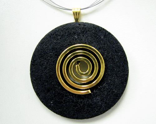 Donut-Aufhänger - gold farbig
