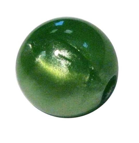 Marmor-Perlmutt-Effekt Perle 14mm - grün