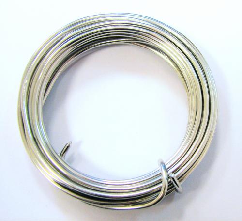 Aluminium-Draht 2mm - 3 Meter - Farbe: silber