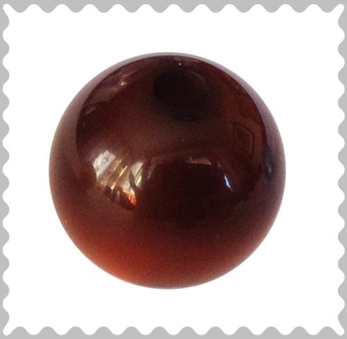 Polarisperle dunkelbraun glänzend 16 mm - Großloch