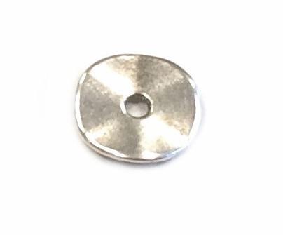 Spacer Scheibe 10mm gewellt - Loch 1,7mm - Farbe: silber