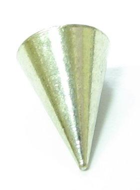 Gewinde-Endstück - kurze Spitze glatt - Farbe platin - 1 Stück