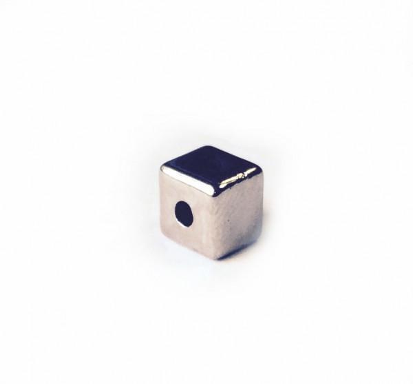 Würfel 6x6mm - silber farbig