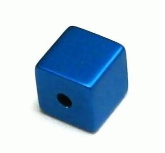 Aluminium Würfel eloxiert 8x8mm - elox blue