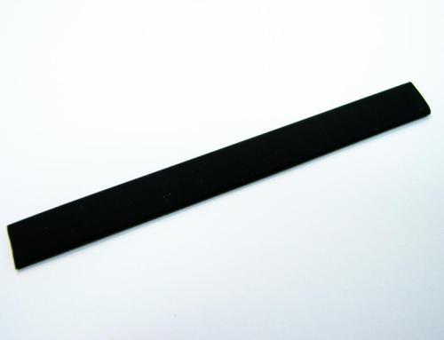 Flaches PVC-Band 10x2mm - schwarz - 1 Meter