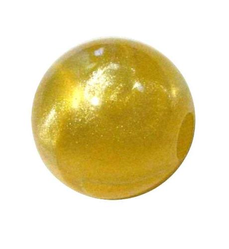 Marmor-Perlmutt-Effekt Perle 14mm - gelb