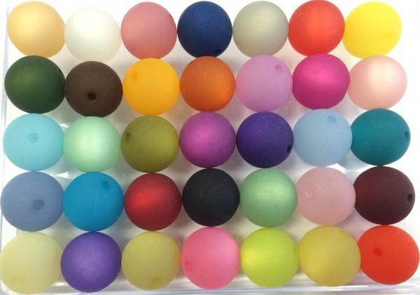 Polarisperlen 14mm - 35 Stück in verschiedenen Farben