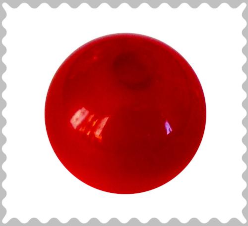 Polarisperle rubin glänzend 16 mm - Großloch