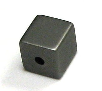 Aluminium Würfel eloxiert 8x8mm - elox grau