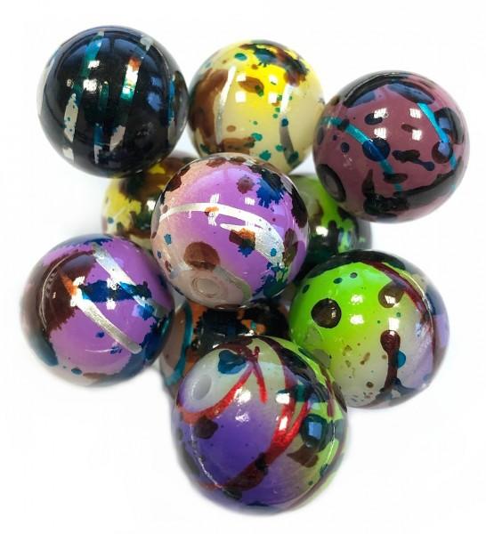 Resin Perlenmix - 20mm Perlen - 10 Stück