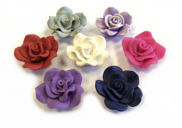 Rosen 40mm - 7 Stück in verschiedenen Farben