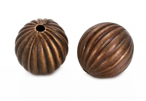 Wellen Perle 20mm - Farbe: altkupfer - 1 Stück
