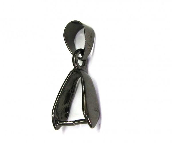 Collierschlaufe mit Dorn geschwärzt - Clip 10mm