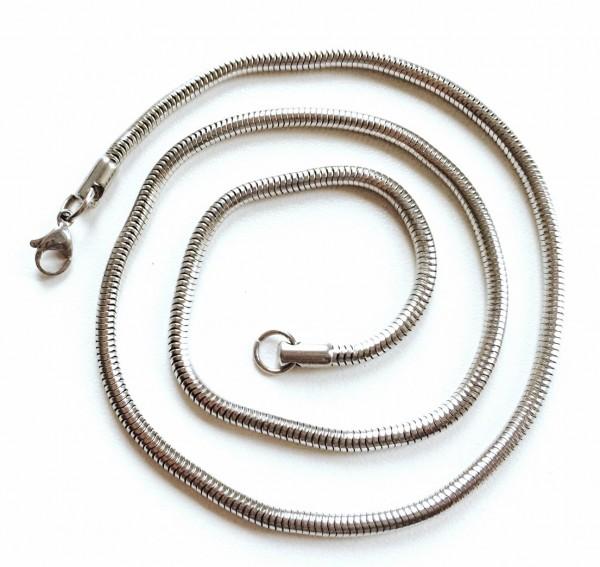 Edelstahlkette - Schlangenkette 3,2mm - 50cm